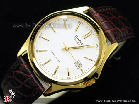 jam tangan casio mtp 1183q 7adf buy casio s watches fashion leather gold mtp 1183q