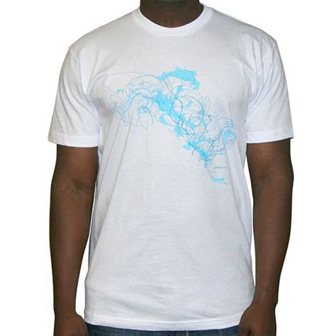 Print Shirt White Blue sushitech sushitech t shirt white with blue print vinyl at juno records