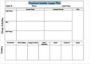 Weekly Lesson Plan Template Preschool by Doc 580528 Weekly Lesson Plan Template Word Document