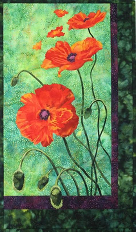 Poppy Quilt Pattern toni designs quilt pattern poppies quilting diy