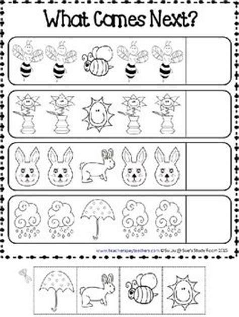 kindergarten pattern completion free worksheets 187 pattern completion worksheets first