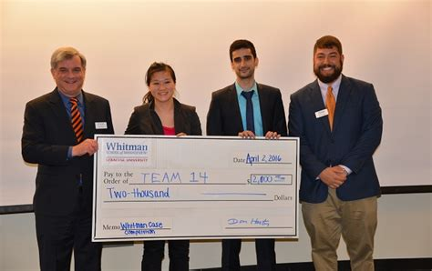 Whitman College Mba by Molson Mba Students Win Whitman Competition