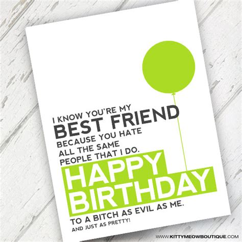 printable birthday cards for your best friend lime green funny best friend birthday card qty 1
