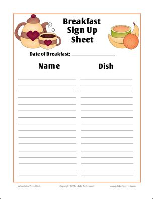 christmas potluck signup sheet printable breakfast search results made 2 b creative