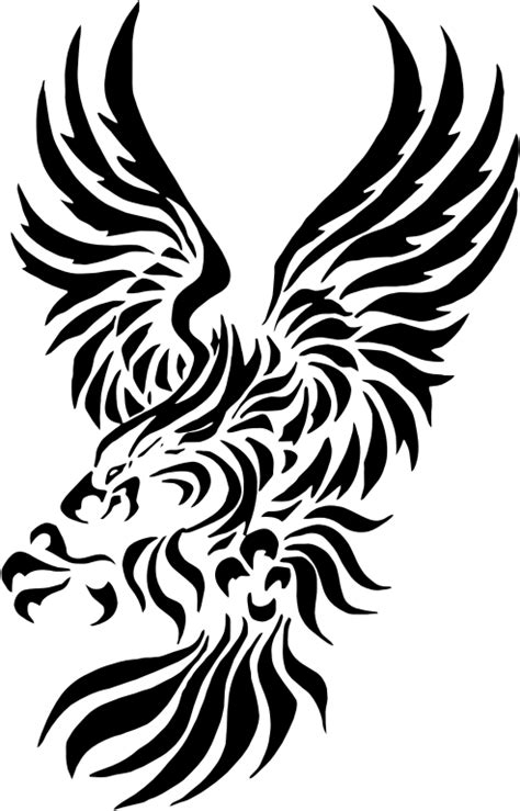 clipart tribal eagle 2