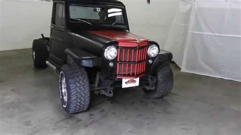jeep wagon black dustyoldcars com 1961 willys jeep truck black sn 1026