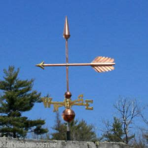 Weathervanes And Cupolas Usa by Arrow Weathervane W Brass Directional Made In Usa 303 Ebay