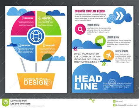 design online poster set of vector design template for business brochure