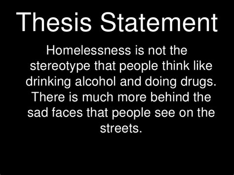 thesis statement on homelessness thesis statement on helping the homeless udgereport843