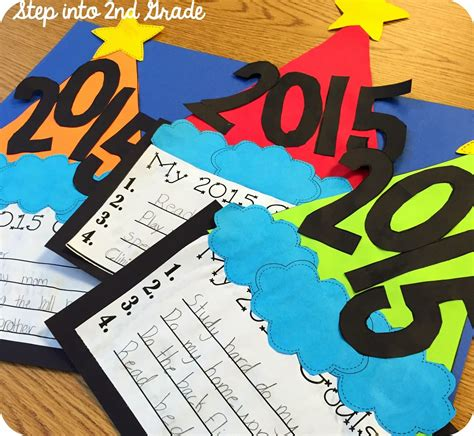 new year craft new year s resolutions goals craft classroom crafts