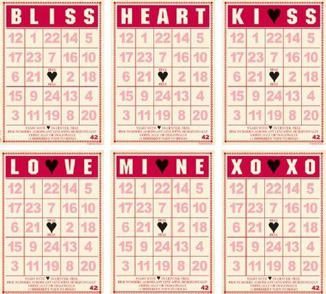 s day bingo card template valentines crossword
