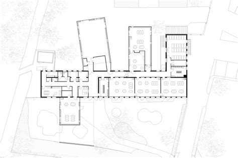 nursery school floor plan nursery school extension graal architecture archdaily