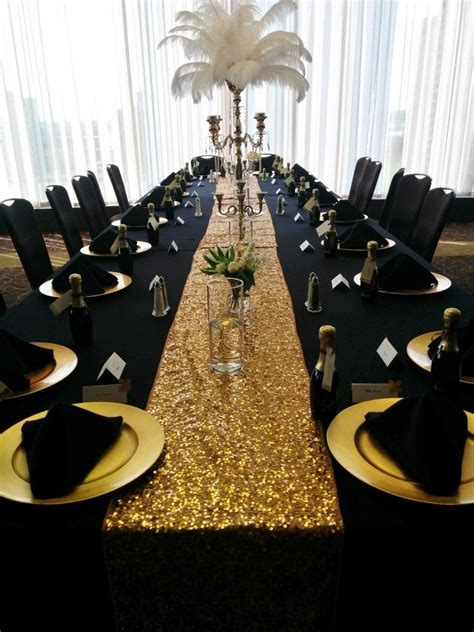 black and gold table decoration ideas black table linens gold charger plates black napkins