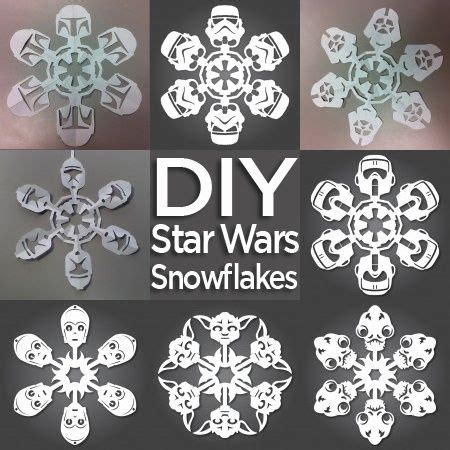 printable diy snowflakes how to make star wars snowflakes free templates included