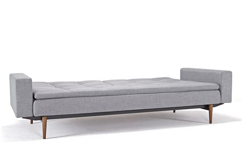 grey sofa with dark wood dublexo deluxe sofa bed with arms begum light grey