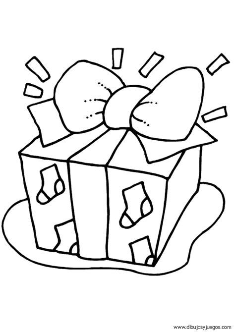 imagenes de navidad para pintar y colorear dibujos regalos navidad 004 dibujos y juegos para