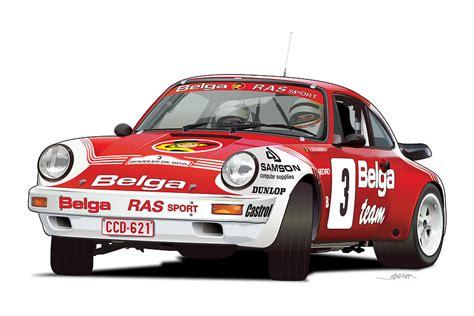 Porsche 911 Sc Rs by Porsche 911 Sc Rs Belga Team Digital Art By Alain Jamar
