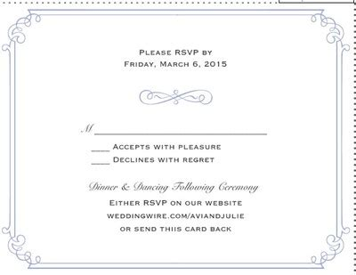 Weddingwire Rsvp by Rsvp Card Wording Weddings Do It Yourself Planning