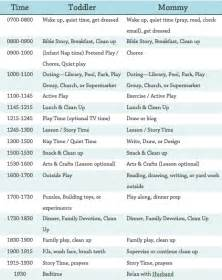 daily and toddler schedule diary of a bewildered