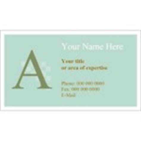 avery templates 28371 monogram business card 10 per sheet