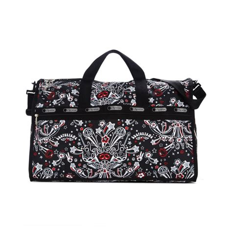 Lesportsac Large Weekender Bag lesportsac large weekender bag in black let s rock lyst