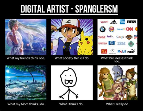 Meme Artist - meme digital artist spanglersm by hannahgrace art on