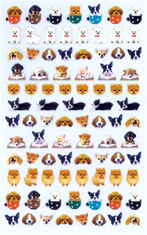 puppy stickers kawaii animals puppy stickers sticker sheets sticker stationery shop modes4u