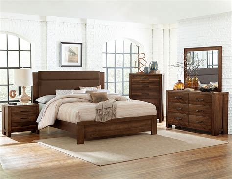 bedroom sets for less homelegance sedley upholstered bedroom set walnut 5415rf