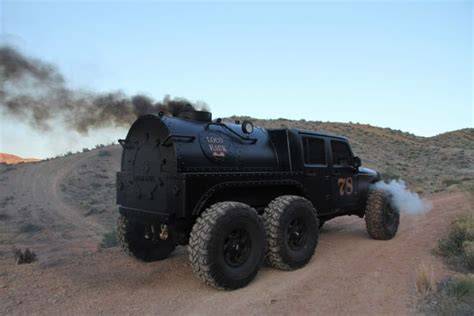 hauk designs steam jeep steam powered jeep has 6 wheels