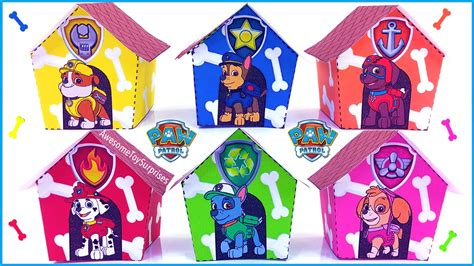 paw patrol house paw patrol nickelodeon dog house play doh dippin dots toy surprise learn colors