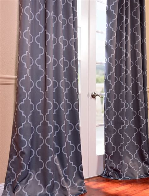 gray blackout curtains seville grey silver blackout curtain contemporary