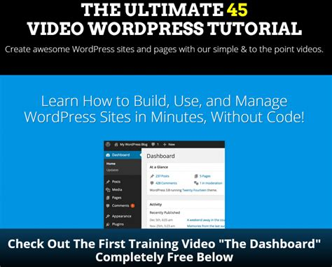 tutorial build website with wordpress wordpress tutorial videos how to use build and manage
