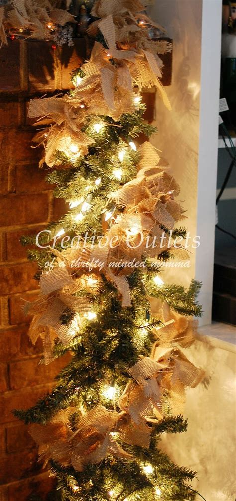 lighted burlap garland merry and bright pinterest