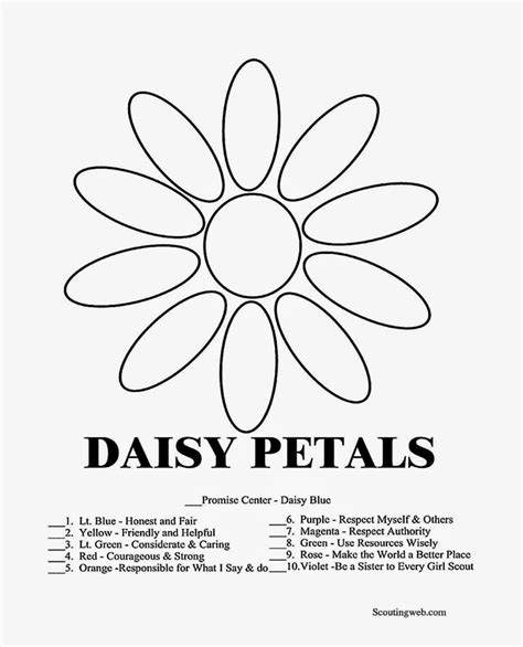 Galerry coloring pages girl scout daisies