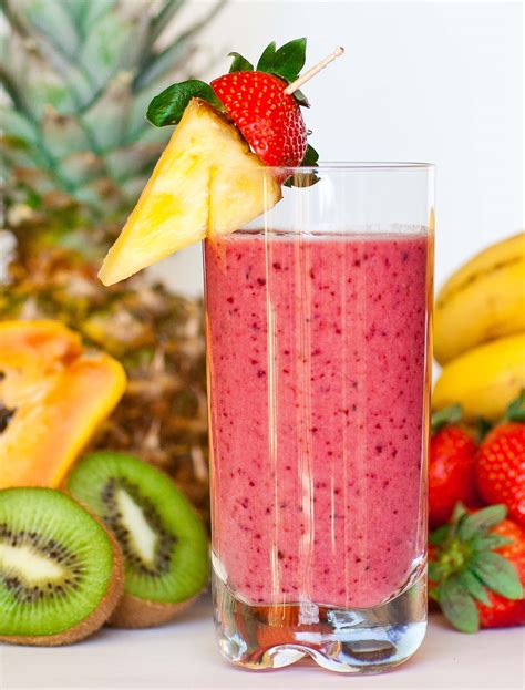 2 fruit smoothies tropical fruit smoothie tatyanas everyday food