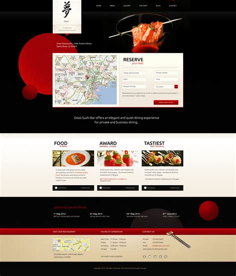 wordpress theme free japan taste of japan restaurant food wordpress theme by