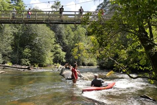 toccoa river swinging bridge mercier orchards blue ridge ga hours address top
