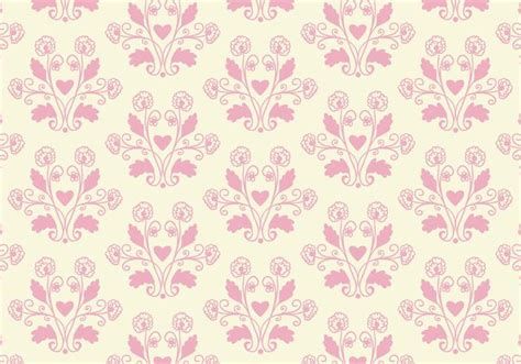Wallpaper Bunga 043 by Free Vector Pink Toile Floral Background Free