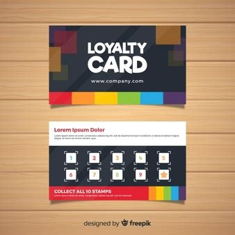 Loyalty Card Design Template by Coffee Shop Loyalty Card Template Vector Free
