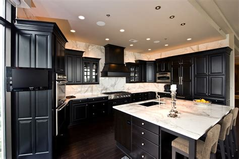 white kitchen cabinets with dark countertops picture of dark kitchen cabinet with white countertop