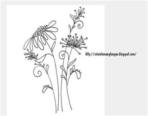 contoh gambar bunga  sulaman joy studio design