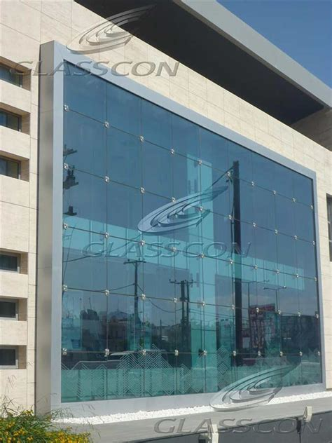 structural curtain wall ballistic structural glass curtain wall with glass fins
