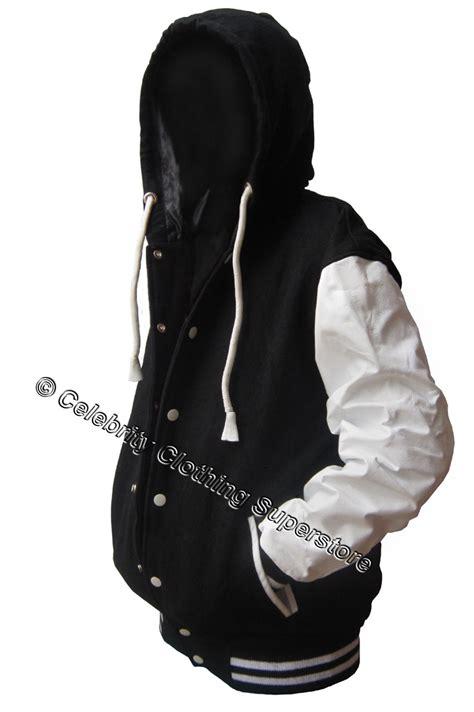 Jaket Hoddie black wool white leather varsity hoodie letterman jacket 149 99 michael jackson