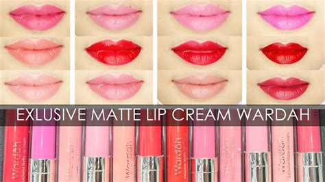 Wardah Lip Matte swatches review exlusive matte lip wardah irna