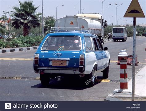 peugeot egypt peugeot 504 taxi cab on the peace road in sharm el sheik