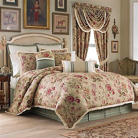 rose comforter croscill 174 cottage rose comforter set bed bath beyond