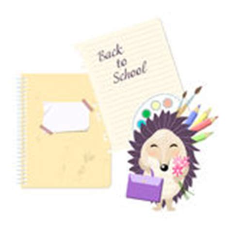 back to school card template hedgehog at school stock photo image 14644080