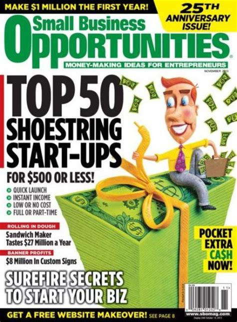 small business opportunities magazine subscriptions