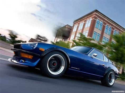 nissan blue car car nissan datsun datsun 240z blue cars motion blur