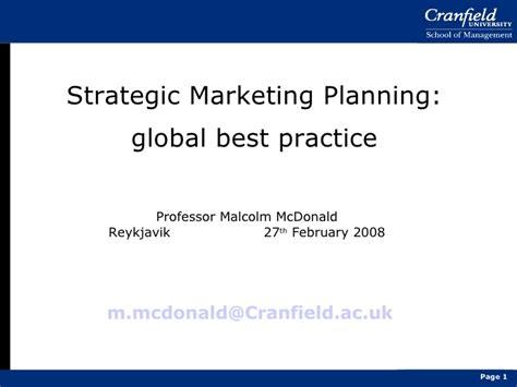 Mba Strategic Planning Linkedin by How To Create Strategic Marketing Plan
